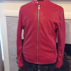 Zara Man Red Bomber Jacket